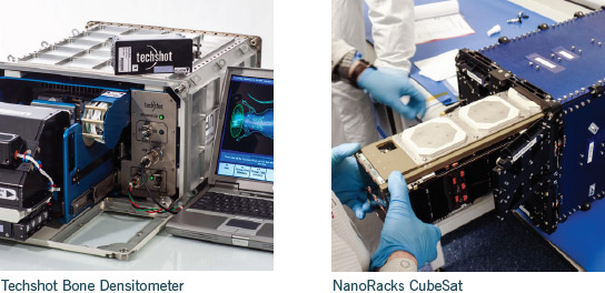 techshot nanoracks iss hardware