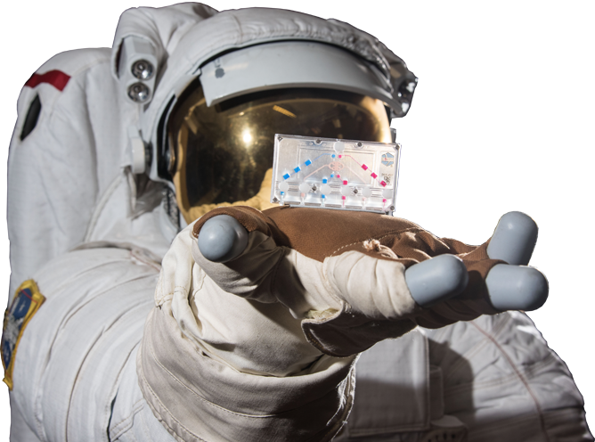 Tissue Chips in Space in the hand of an Astronaut