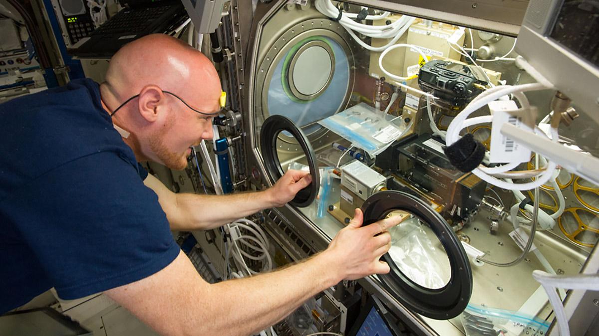 alexander gerst microgravity science glovebox