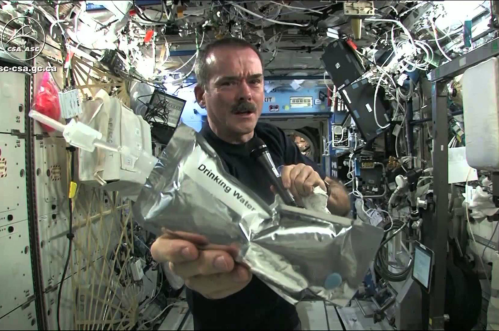 chris hadfield drinking water pouch