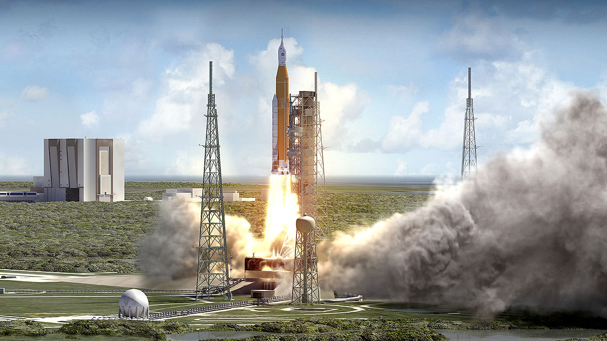 sls launch artist depiction