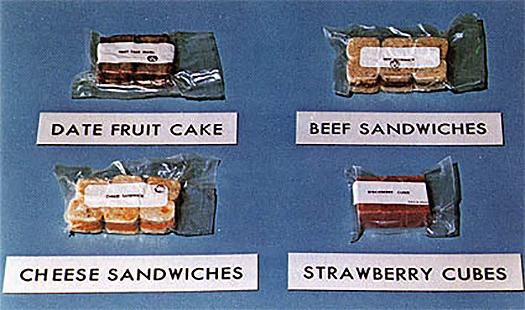 spacefood apollo era