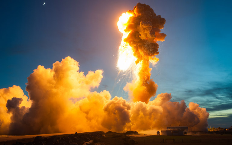 Antares explosion 2014 JoelKowskyNASA