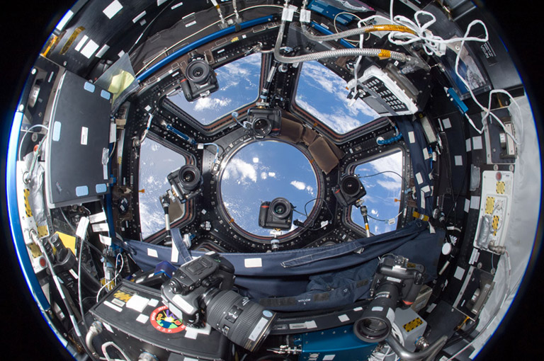 ISS cameras in Cupola