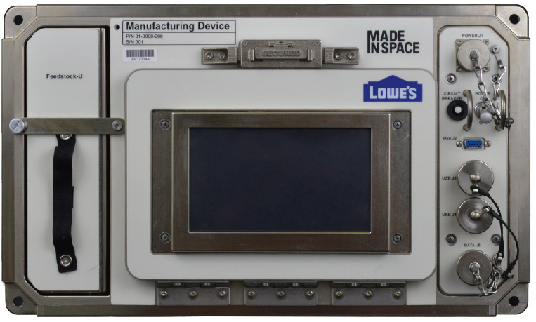 made in space additive manufacturing facility