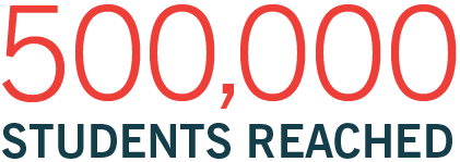 500000 students reached