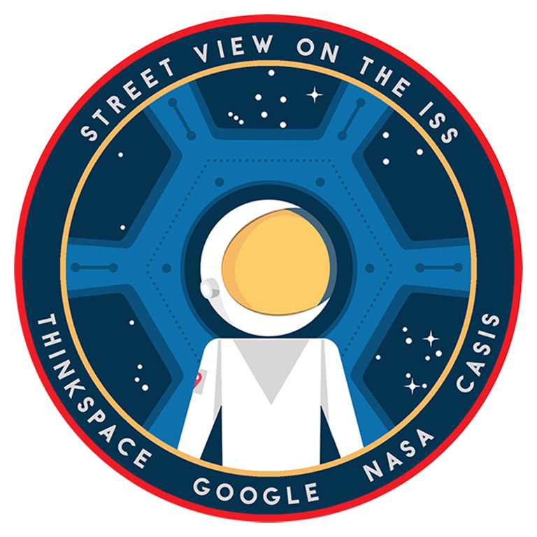 Google Street View ISS Mission Patch
