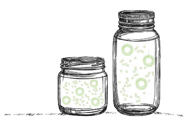 jars problem polydisperity upward