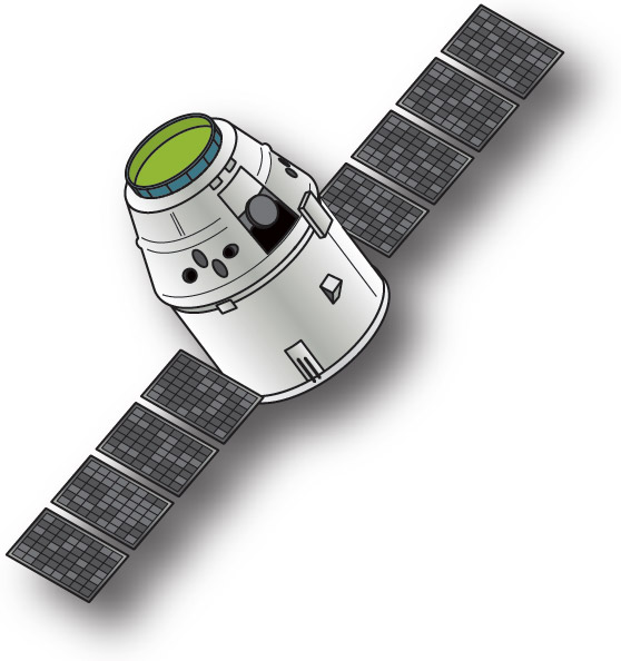 spacex dragon capsule illustration