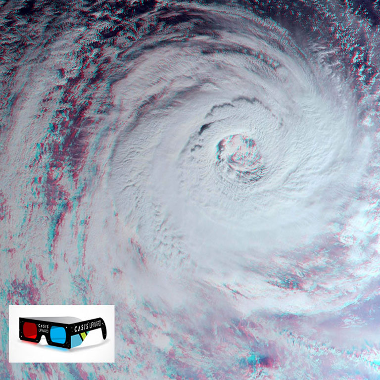 hurricane gita wide view upward