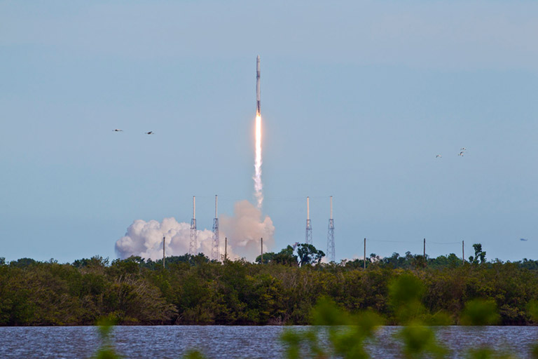 SpaceX 14 18 Falcon rocket Adams 1