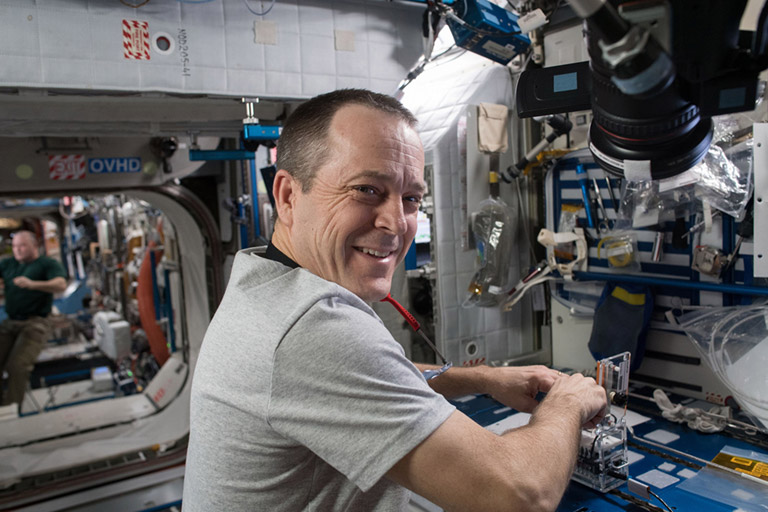 SpaceX 14 21 Astronaut Ricky Arnold Genes in Space ISS