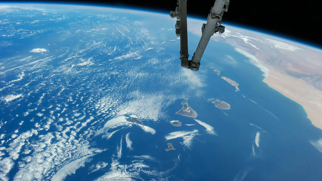 iss arm ocean swirls SWofCanaryIslands
