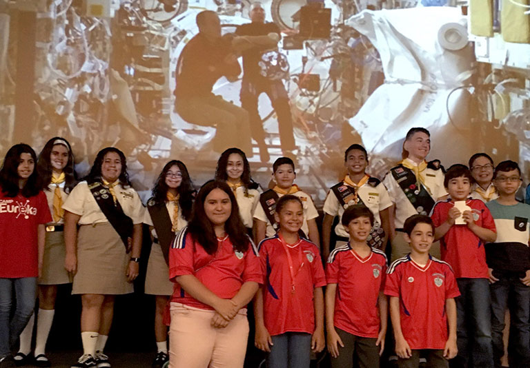 Zero Robotics middle school team Puerto Rico