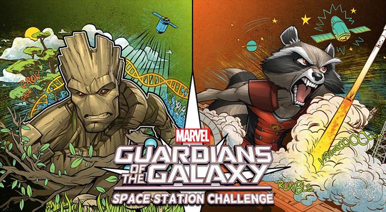 marvel casis space station challenge banner
