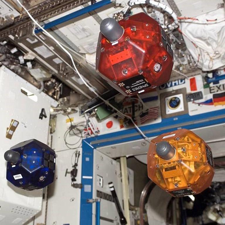 three spheres on station