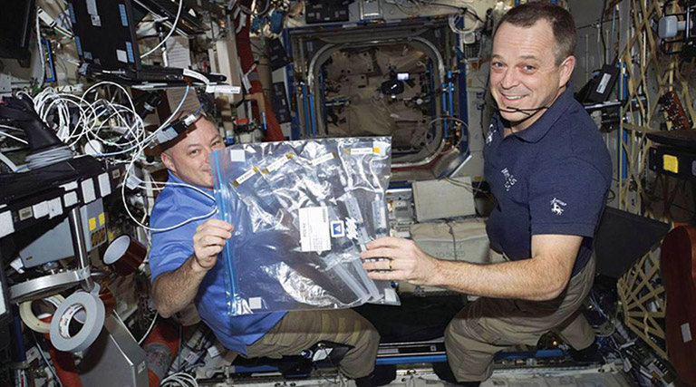 KDP experiment ISS scott ricky