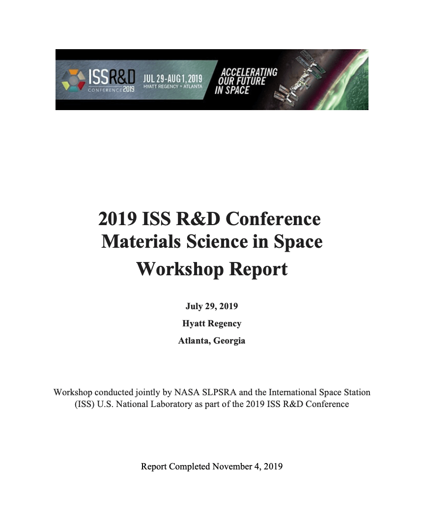 2019 iss rd materials space report cover 1