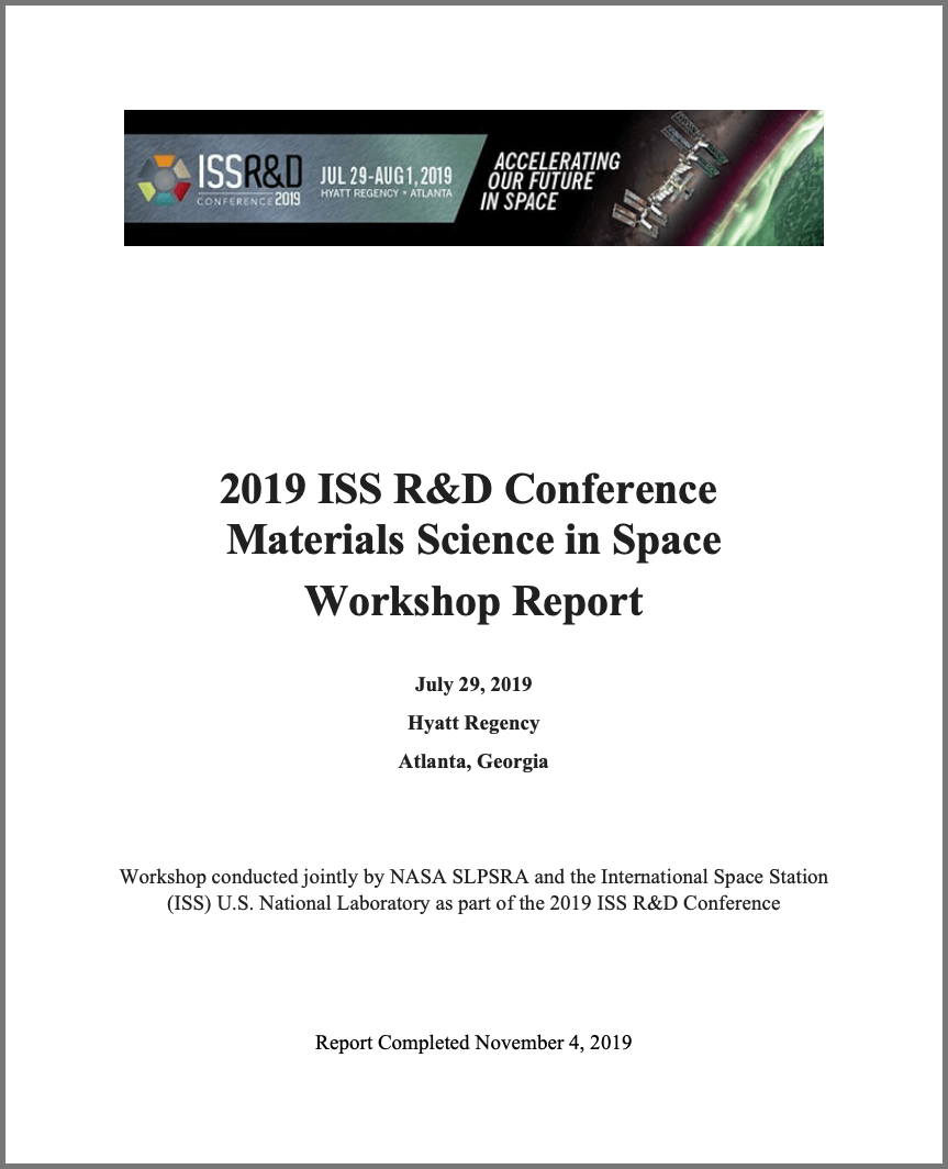 2019 iss rd materials space report cover
