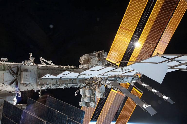 solar arrays terry virts spacewalk