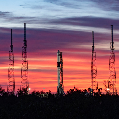 spacex crs 19 sunrise