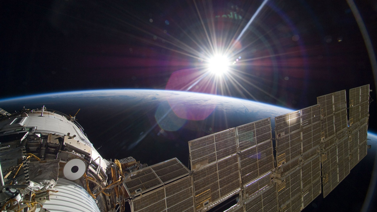 Sun Over Earth NASA ISS 1