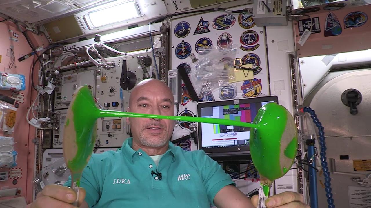 Slime in Space Nickelodeon paddles