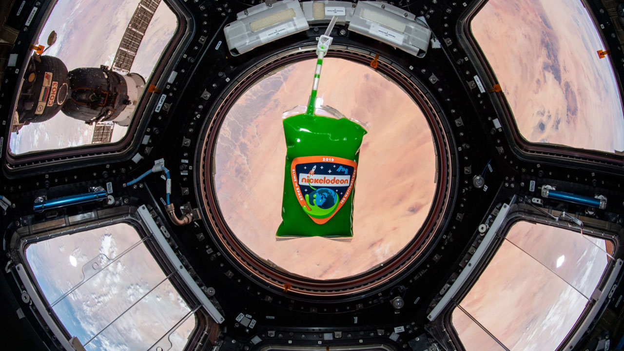 Slime in Space cupola ISS 1
