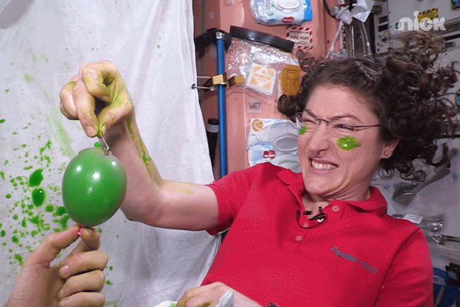 christina slime balloon pop