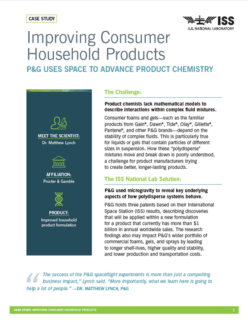 case study pg consumer products