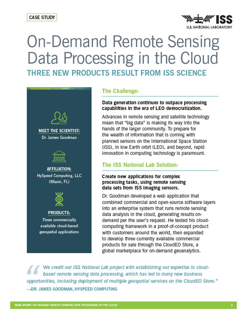 case stury remote sensing