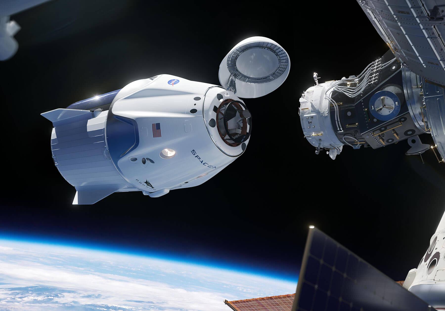ISS News Crew Dragon Tiny