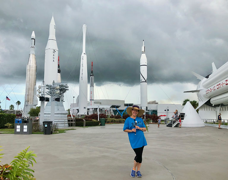 Laurie Orth in Rocket Garden at KSC2