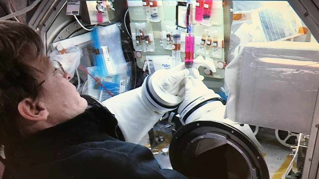 NASA astronaut working on Dr. Zubairs stem cell research on space station 16x9 1024x576 1