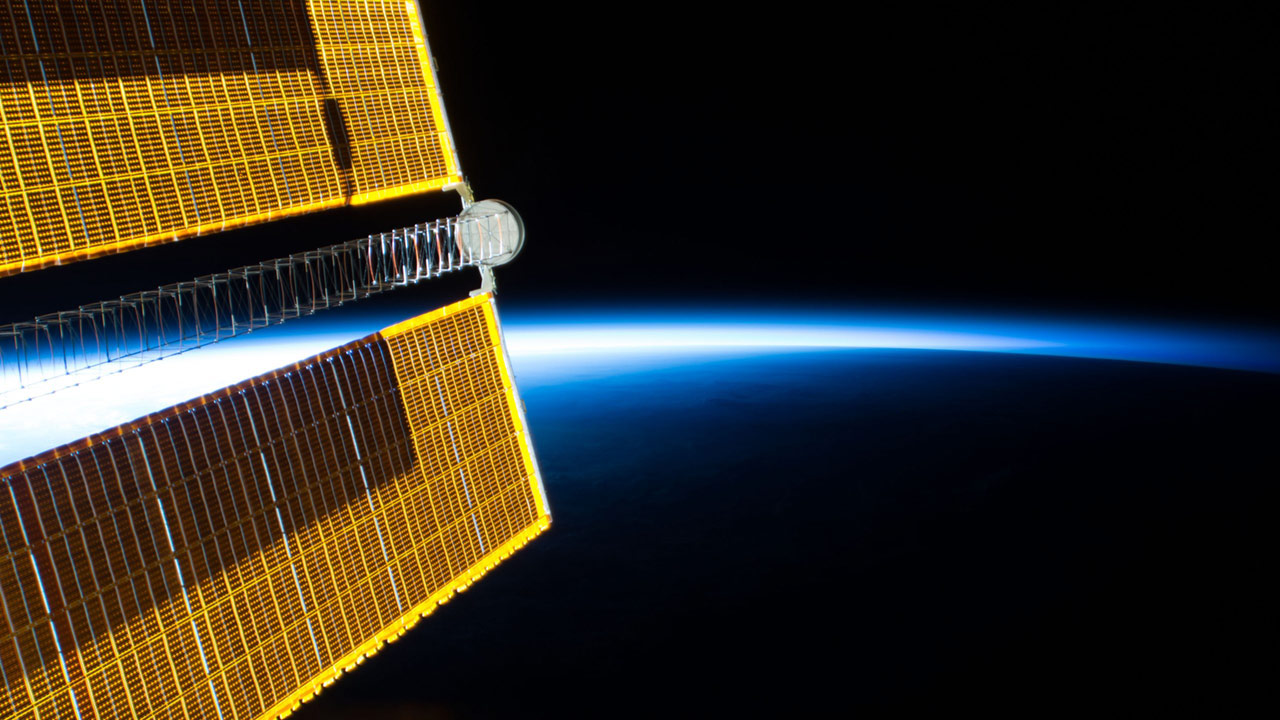 solar array earth blue limb