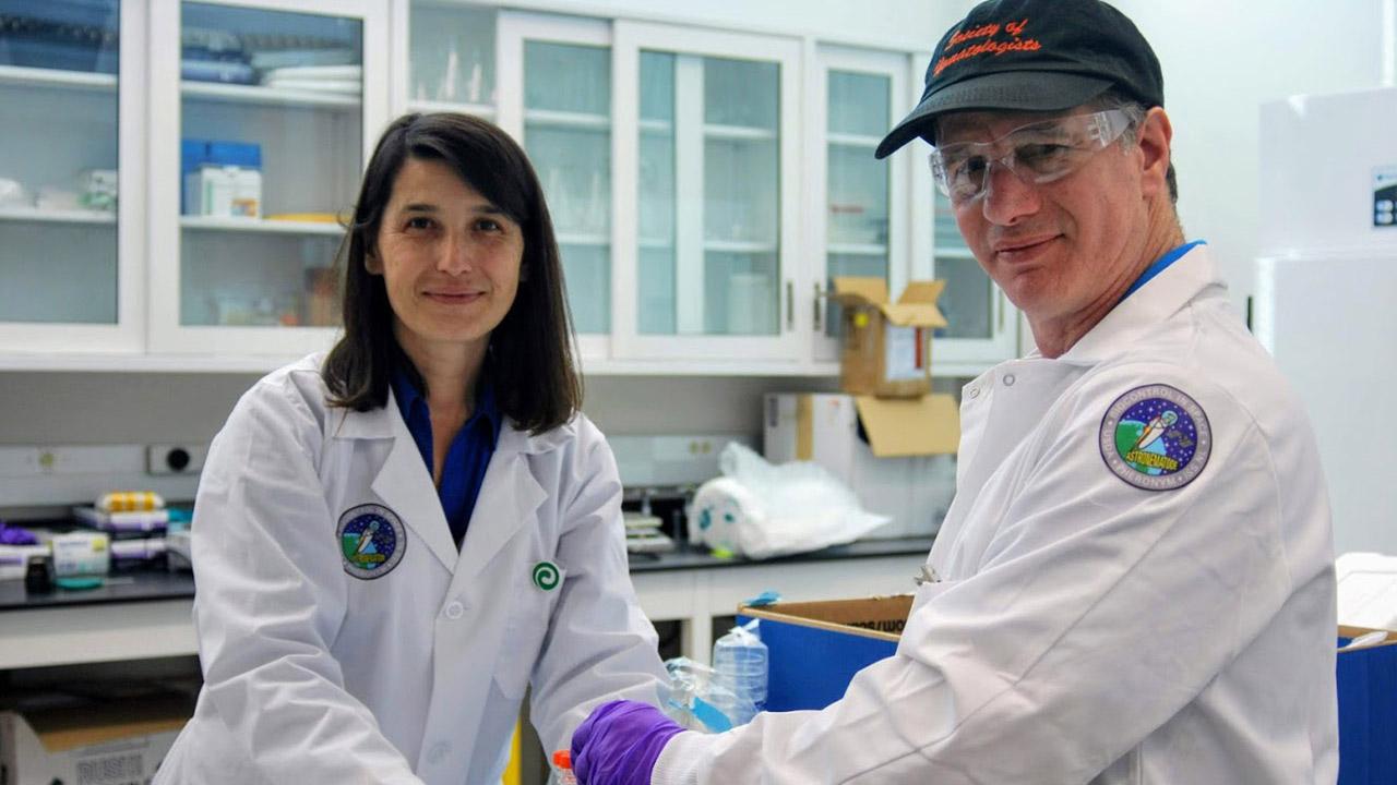 pheronym prepares samples spacexcrs19 close