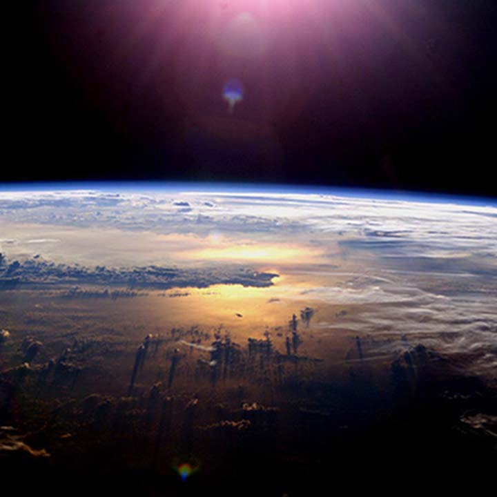 earth from space pink sun435