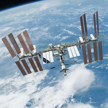 space station over earth435