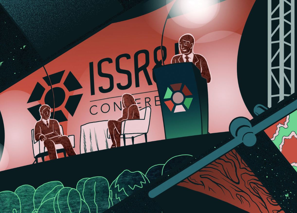 ISSRDC upward graphic