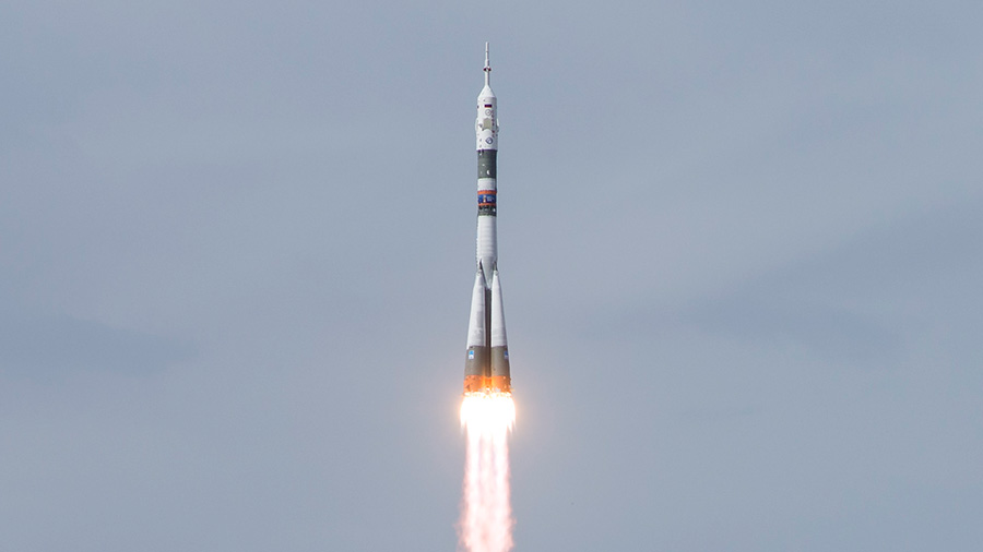 Soyuz MS 09 launch