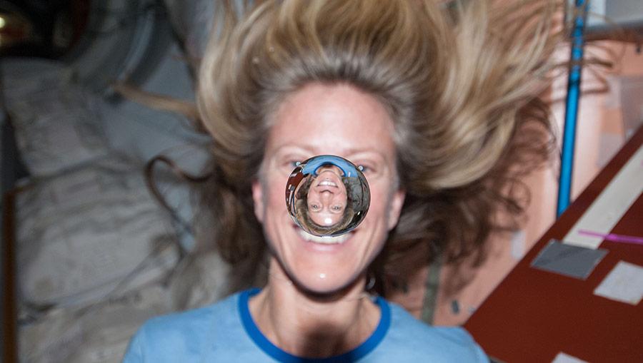 astronaut karen nyberg buble