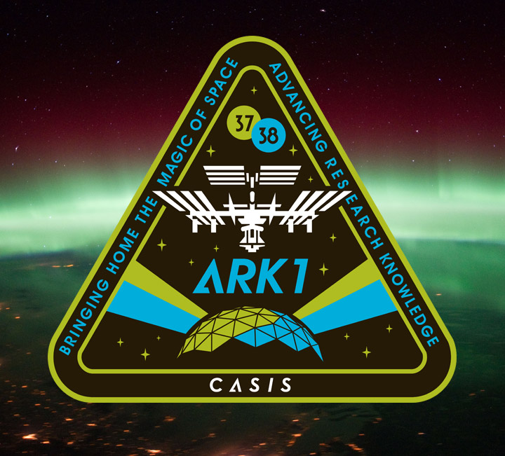 casis ark1 mission patch aurora
