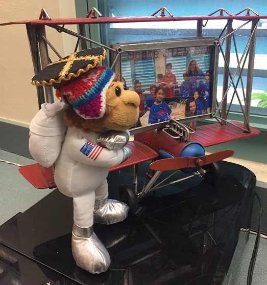 chiarella miss baker monkey astronaut doll