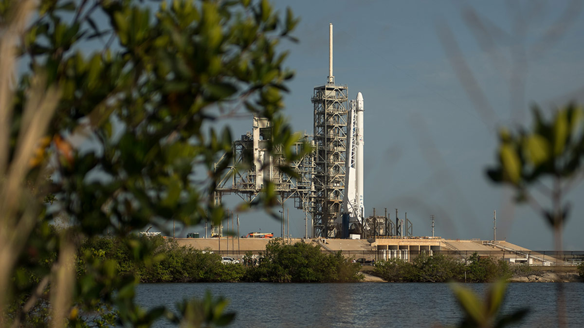 crs13 on pad across river