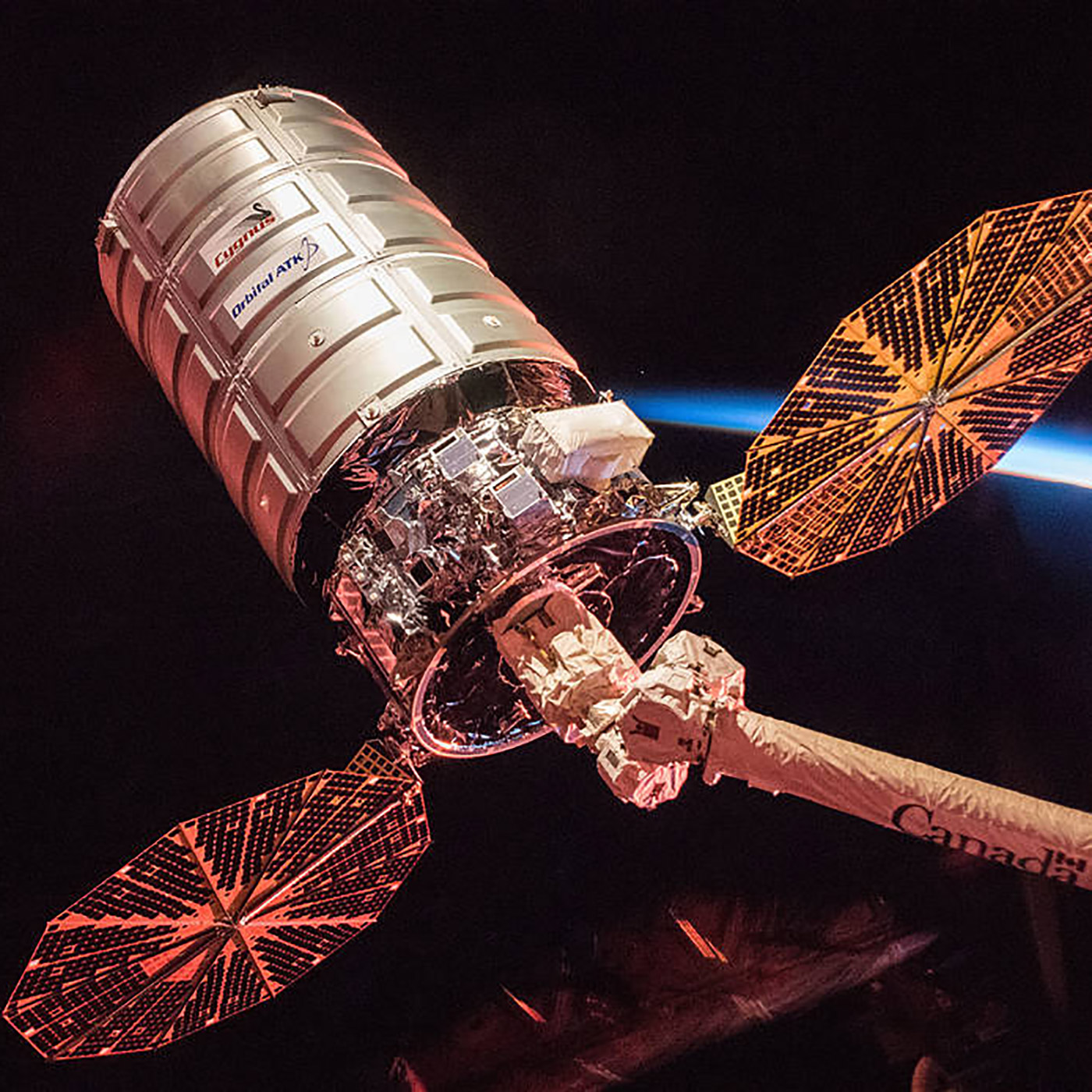 cygnus leaves station sunrise