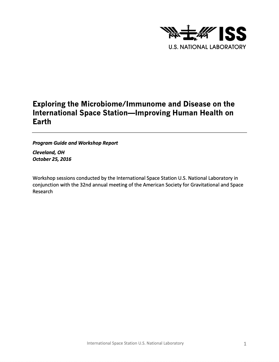 exploring microbiome immunome and disease report cover