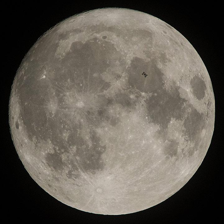 iss transits moon