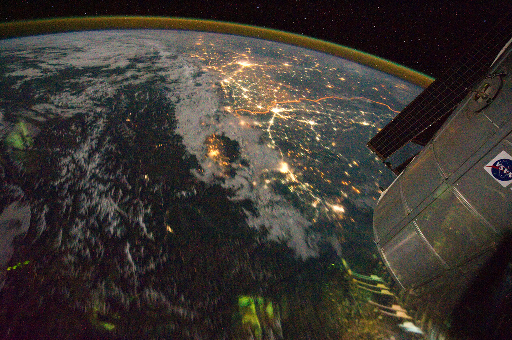 night view India Pakistan boarderlands