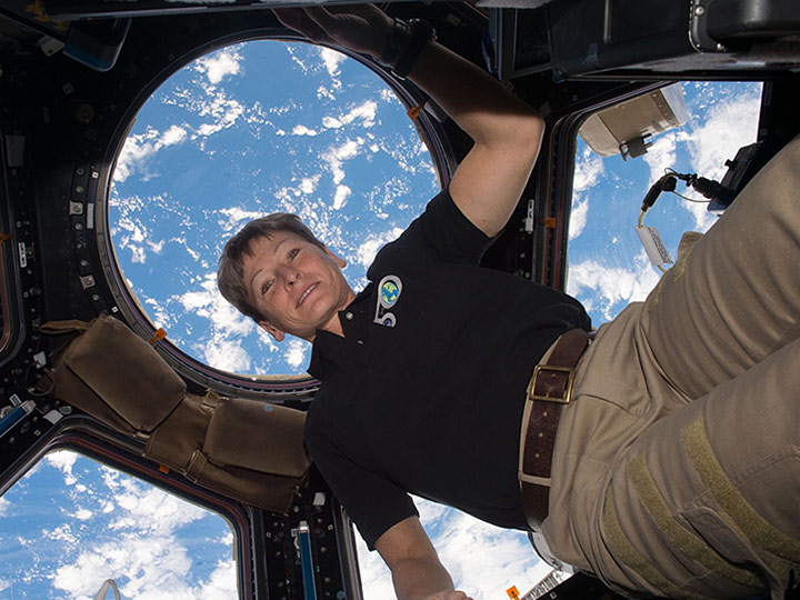 peggy whitson floats cupola
