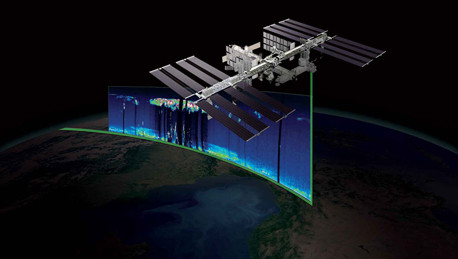 remote sensing iss over earth